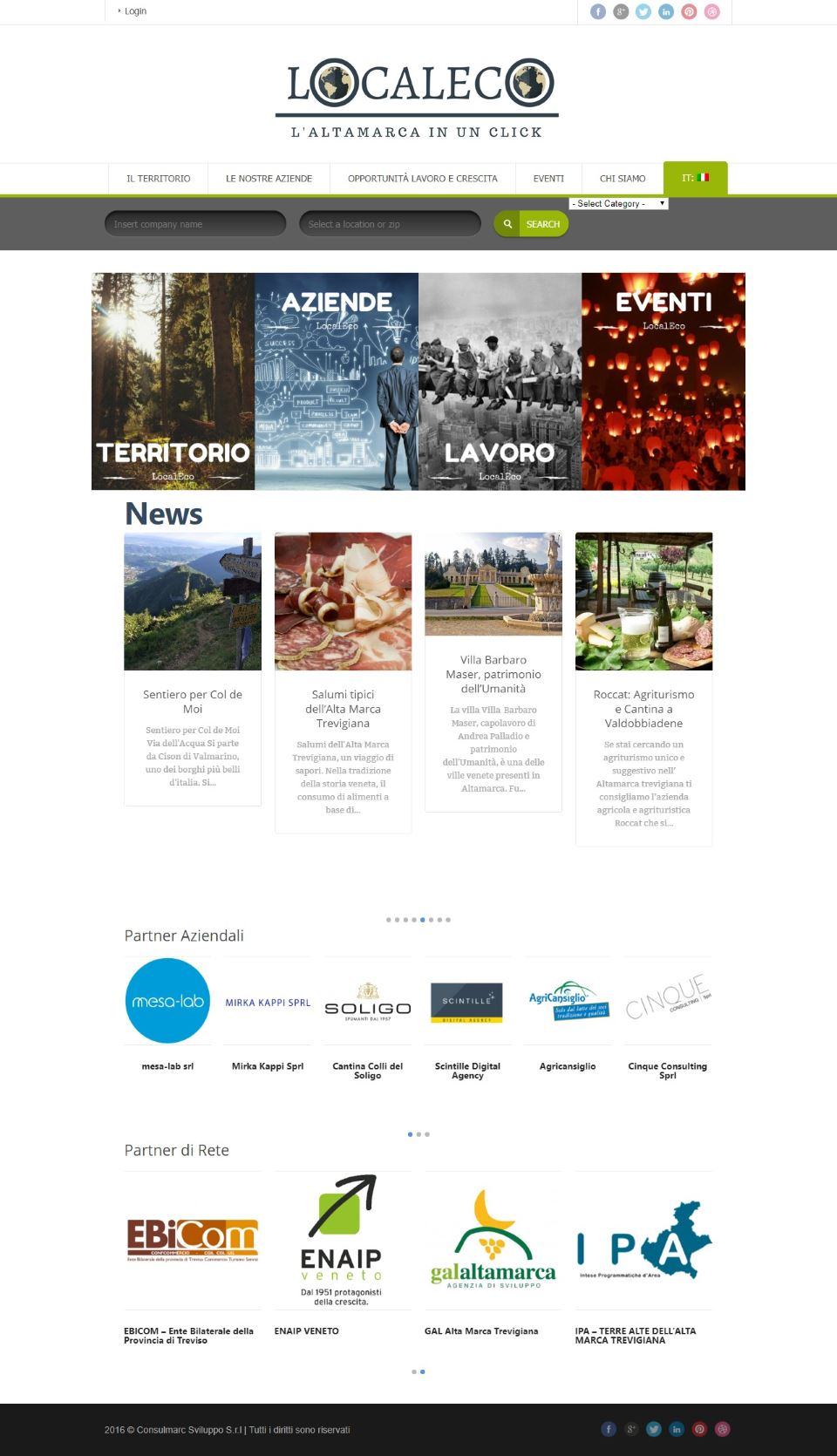 Localeco.it homepage